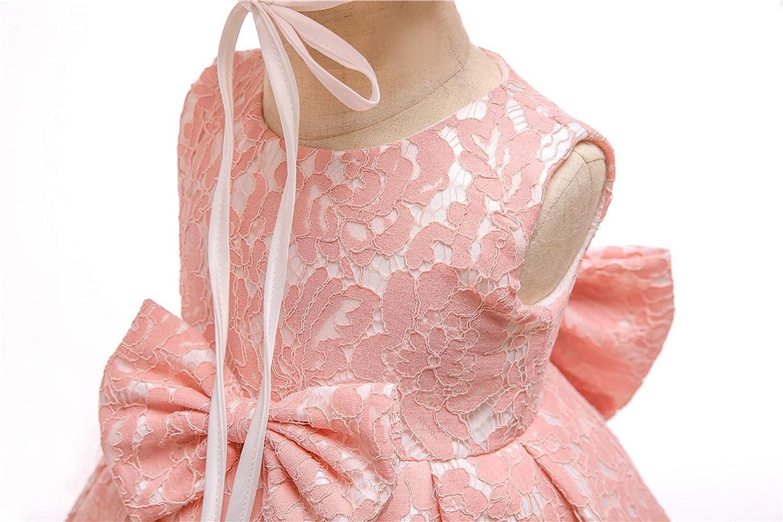 LZH Kleinkind Baby M/ädchen Kleid Spitze Prinzessin Taufe Cocktailparty Blume Bowknot