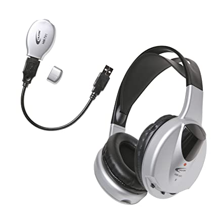 Califone HIR-KT1 Infrared Stereo/Mono Wireless Headphone with Transmitter