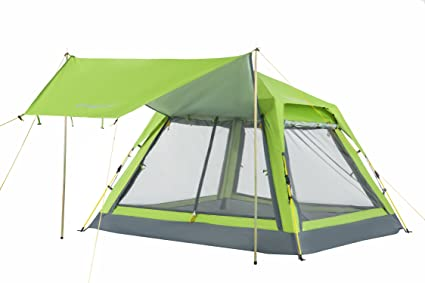cheap for discount 409d2 e4496 KingCamp 3-4 Person Camping Mesh Tent Screen Room, Quick-UP Sun Shelter  Tents with Rain Fly