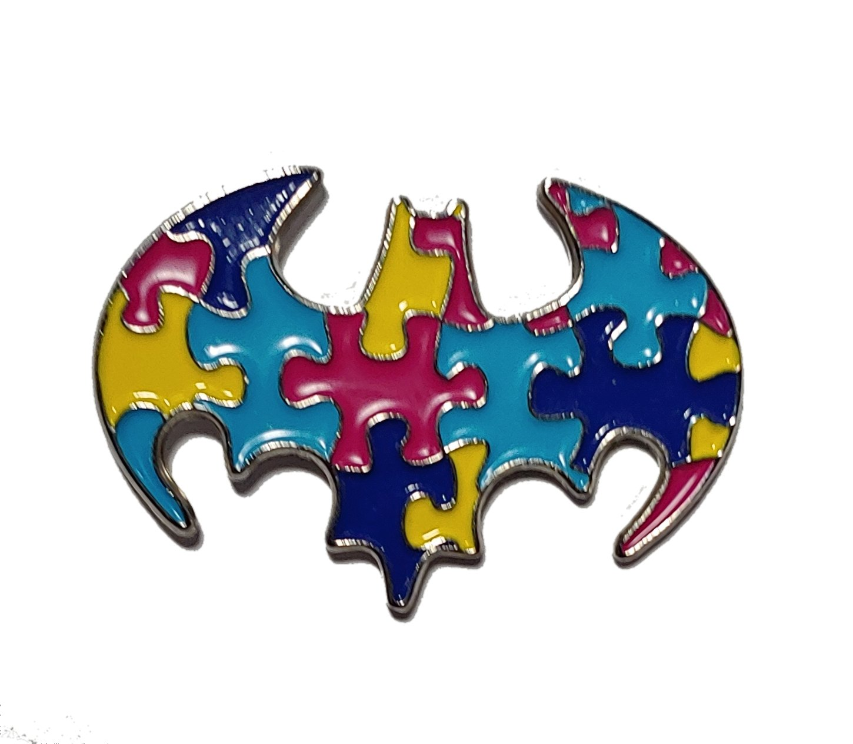 Bat wings Ailes de Chauve-Souris ASD Sensibilisation à l'Autisme Épinglette Badge Broche Badgepinworld