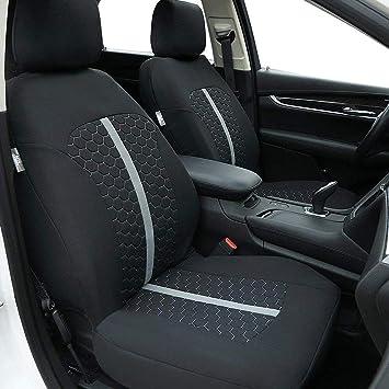 Ford Tourneo Custom 12-on Luxury Foam Cloth Van Seat Covers Black Grey