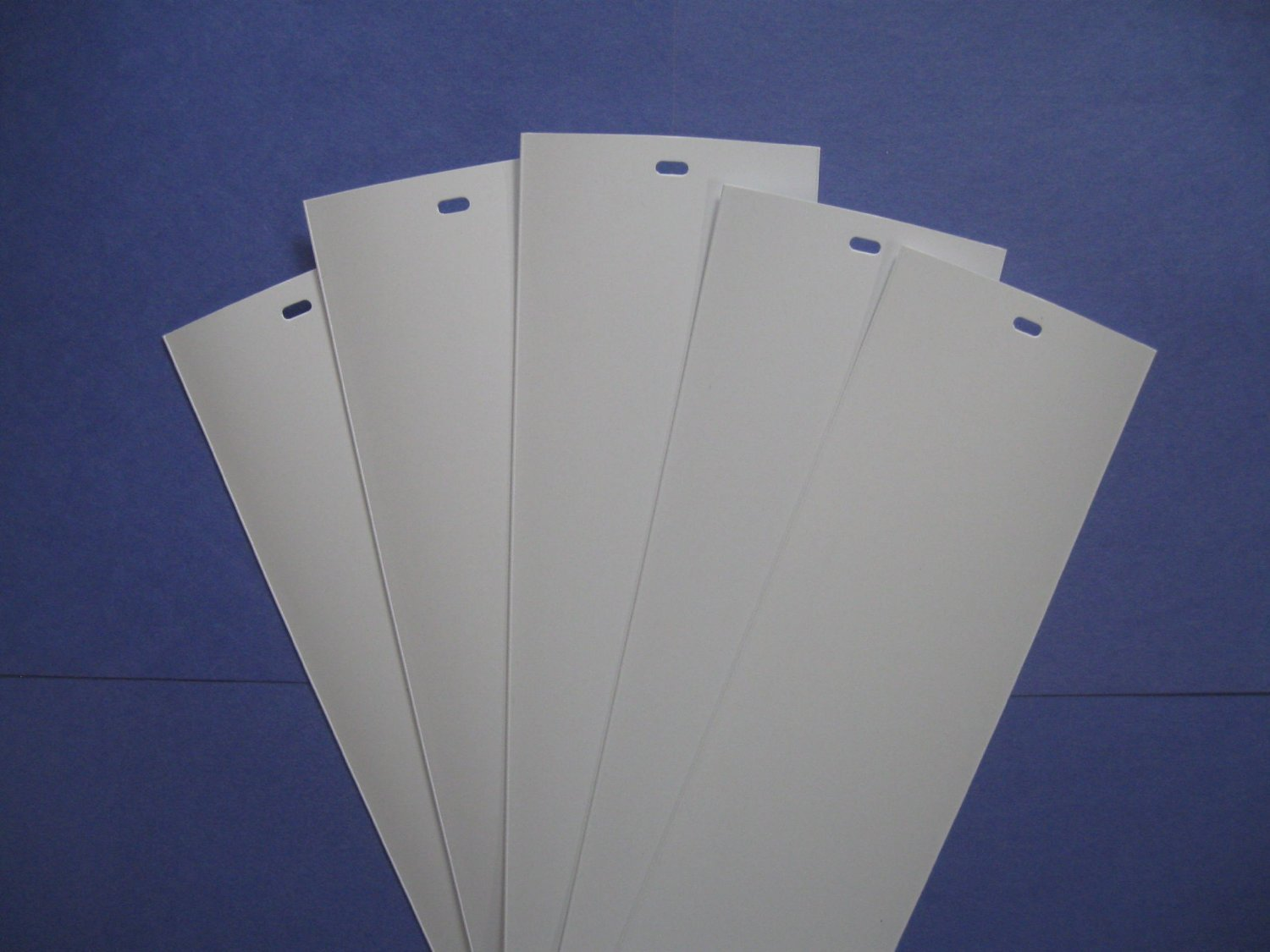 Pvc Vertical Blind Replacement Slat Smooth White 10 Pk