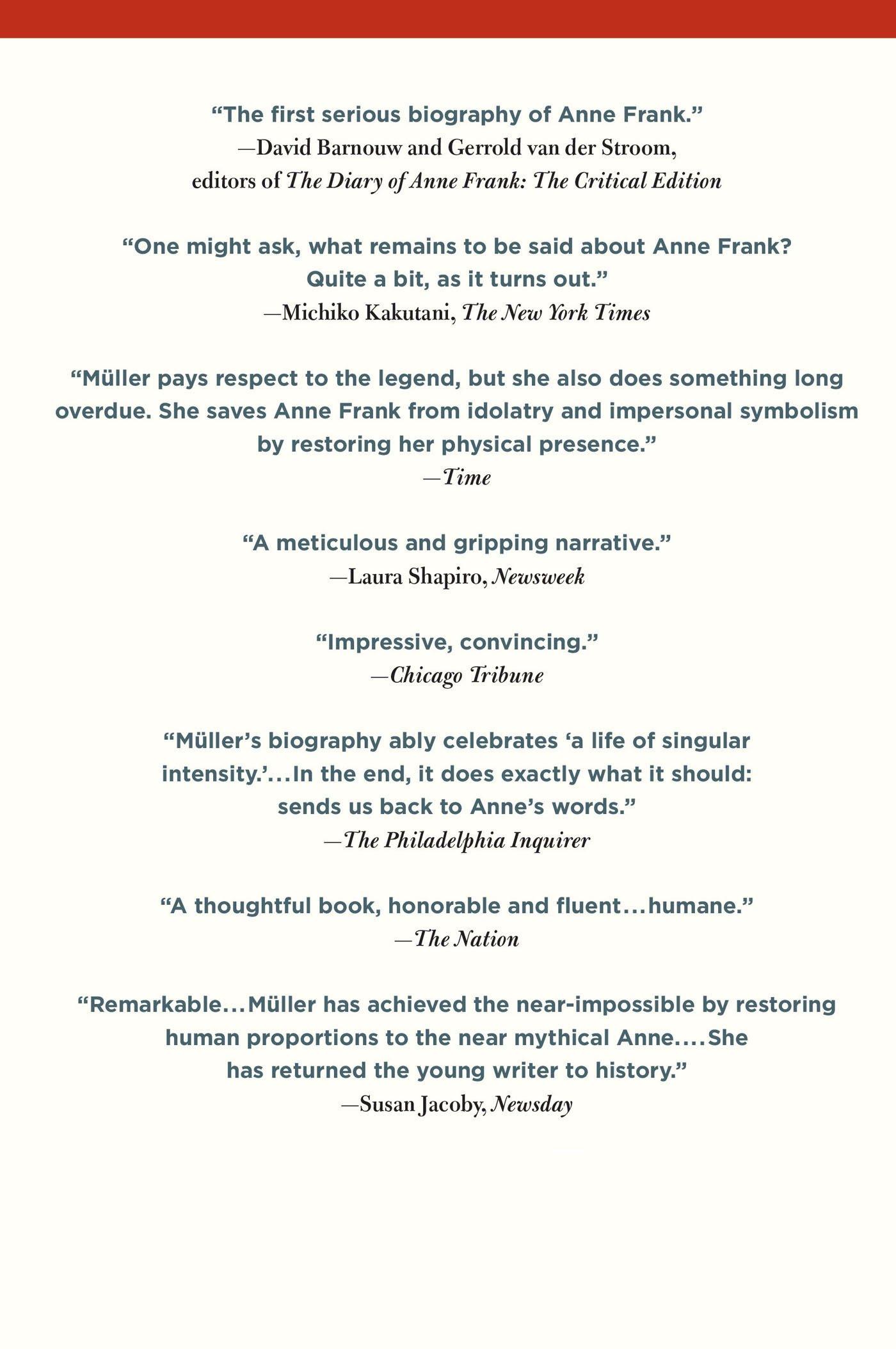 Anne Frank: The Biography: Melissa Müller: 9780805087314: Amazon.com: Books