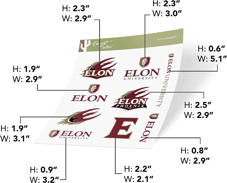 Full Sheet Elon University Phoenix NCAA Sticker Vinyl Decal Laptop Water Bottle Car Scrapbook