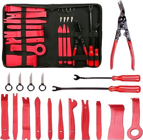 Cclife 18 Tlg Demontage Werkzeug Auto Zierleistenkeile Verkleidungs Werkzeug Innen Verkleidung Ausbau Lösewerkzeug Auto