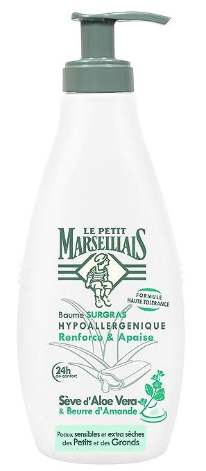 Le Petit Marseillais - Bálsamo Surgras hipoalergénico, savia de aloe vera/manteca de almendras con dispensador, 250 ml: Amazon.es: Salud y cuidado personal