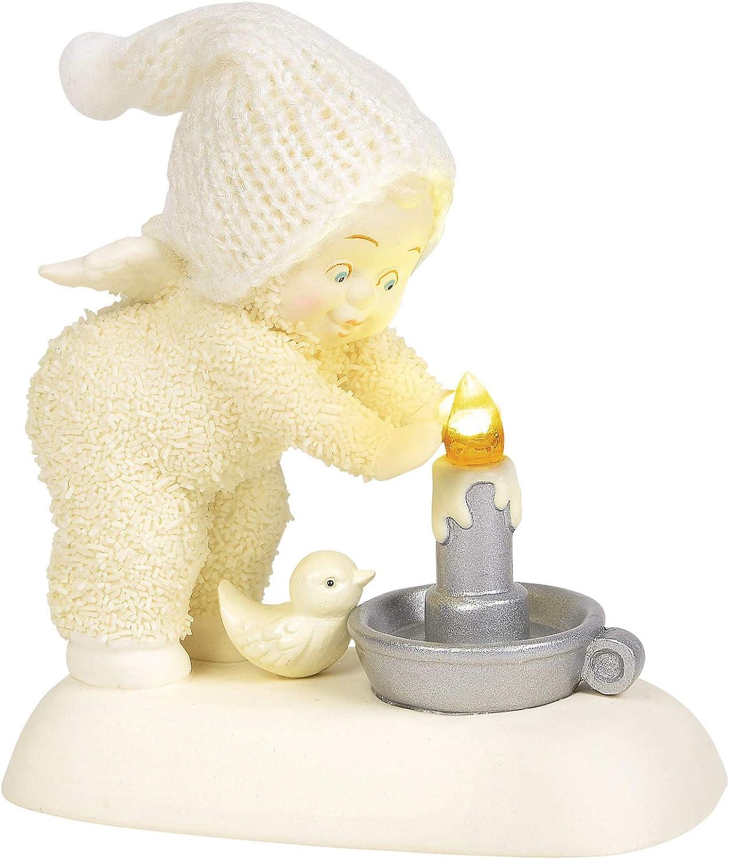 Department 56 Snowbabies Peace Hand Warmer Lit Figurine, 4 Inch, Multicolor