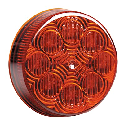 """Maxxima M16280R Red 2-1/2"""" Round LED Clearance Marker Light: Automotive"""