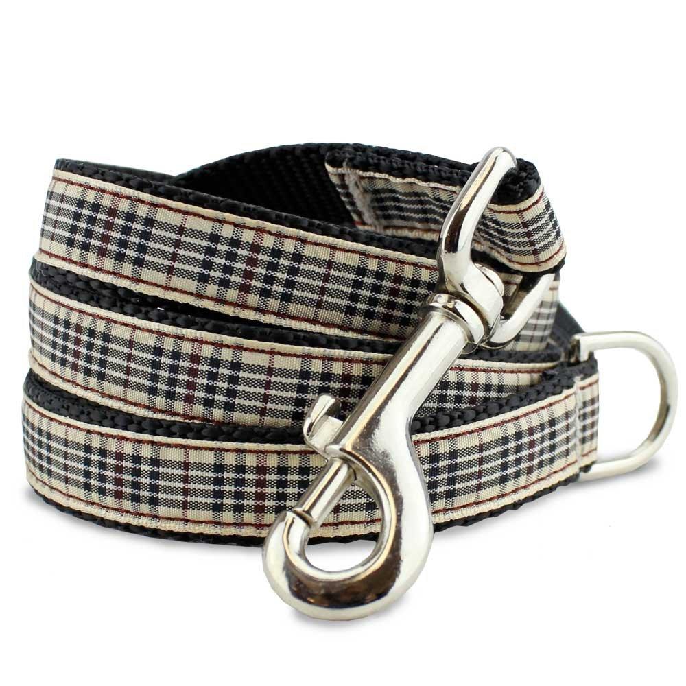 1\ The Artful Canine Plaid Dog Leash, London Furberry, 5 Ft Long, 1  Wide