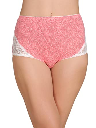 4c131075aa0 Clovia Women s Cotton High Waist Printed Hipster Panty with Lace ...