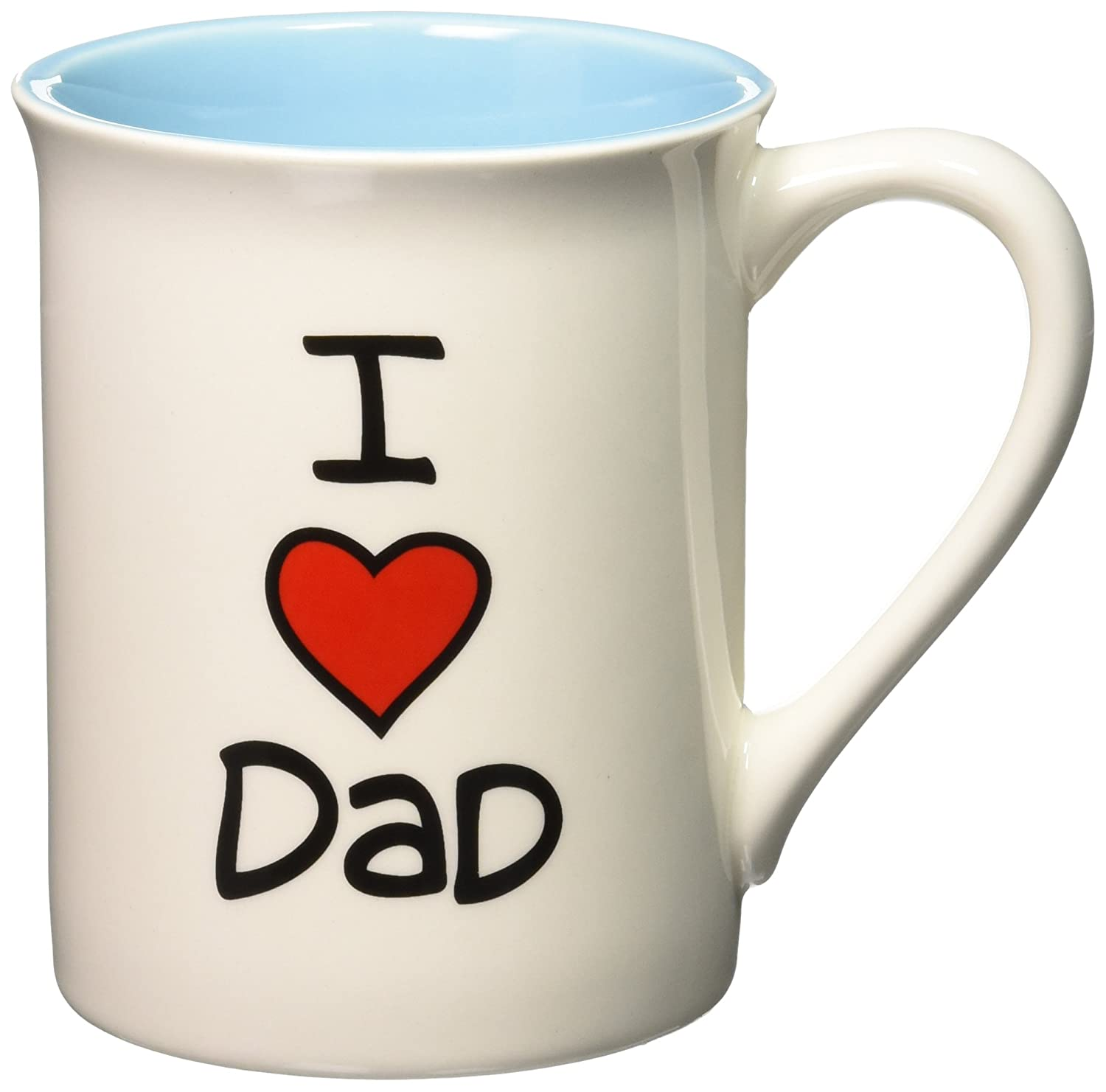 I heart dad coffee mug