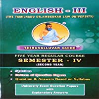 English - III (For 5 Year Course Law Students In Second Year Semester IV)