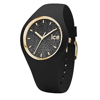 invaincu x large choix de designs bas prix Ice-Watch - Ice Glitter Black - Montre Noire pour Femme avec Bracelet en  Silicone