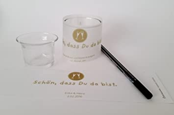 12 Mini Tischlichter Mit Teelichtglas Auch Tischkarte Für