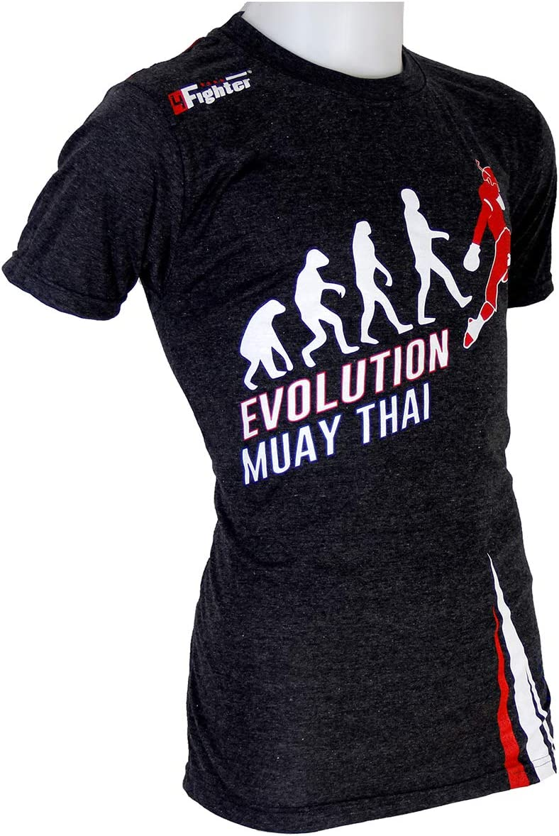 4FT Evolution Muay Thai Camiseta Gris