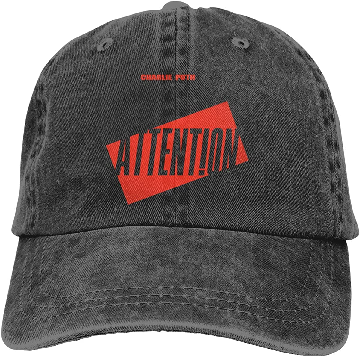 JERXANYD Charlie Puth Attention Adjustable Baseball Hat for Mens Caps