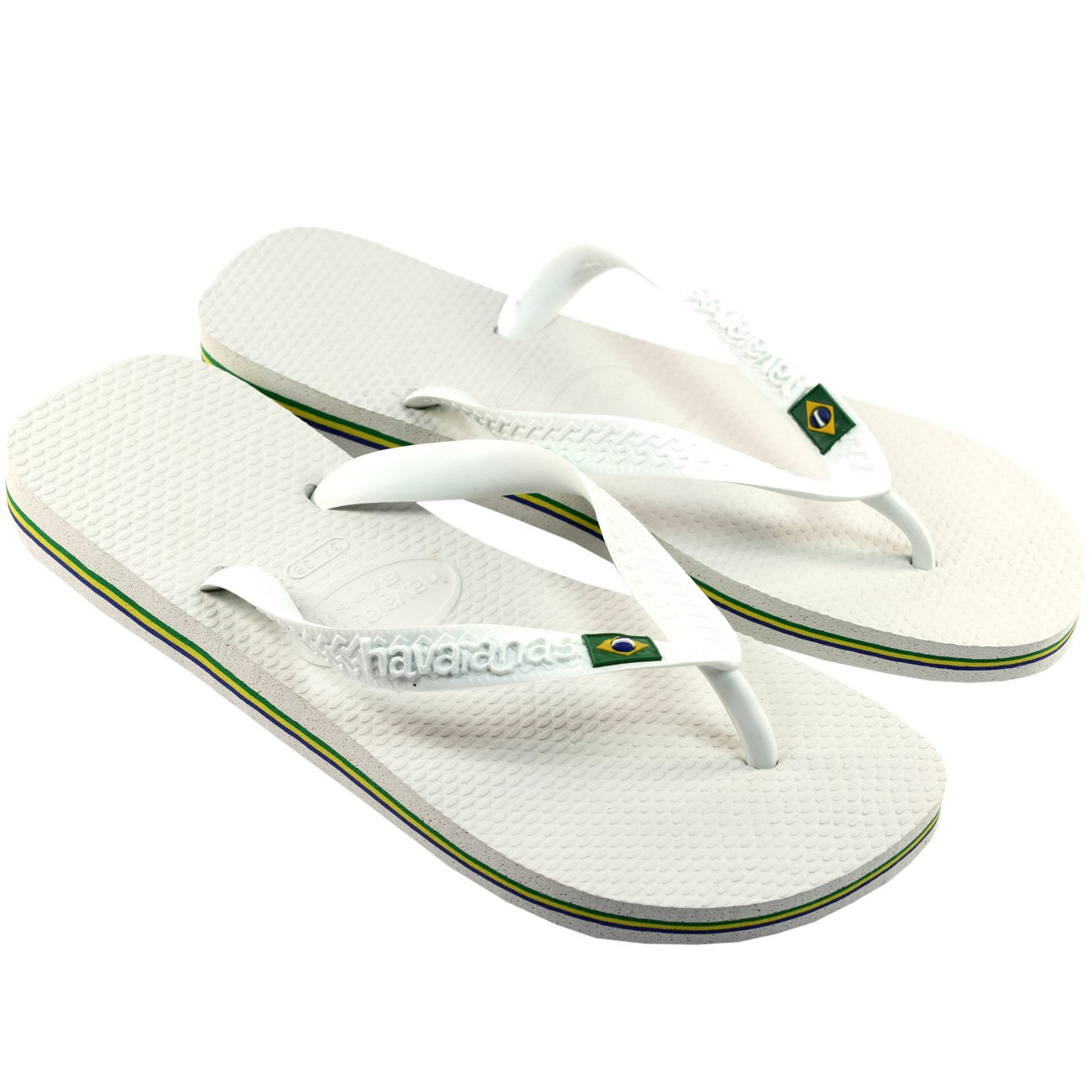 Herren Sandalen Havaianas Brasil Flip Flop Sandals  39/40 EU|Wei?