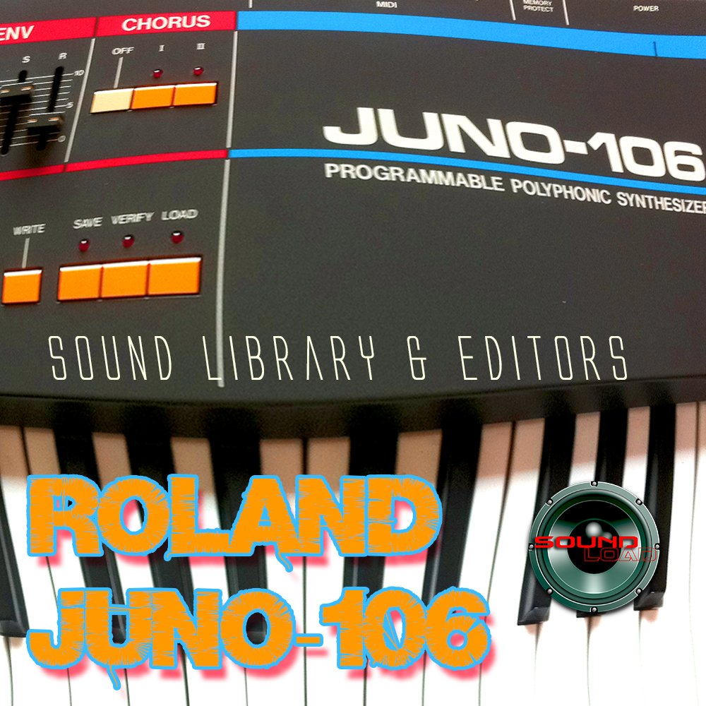 for ROLAND Juno-106 Large Factory & NEW Created Sound Library & Editors on CD/download