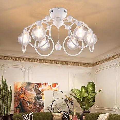 Moderno diseño lámpara de techo Blanco Redondo Anillos ...