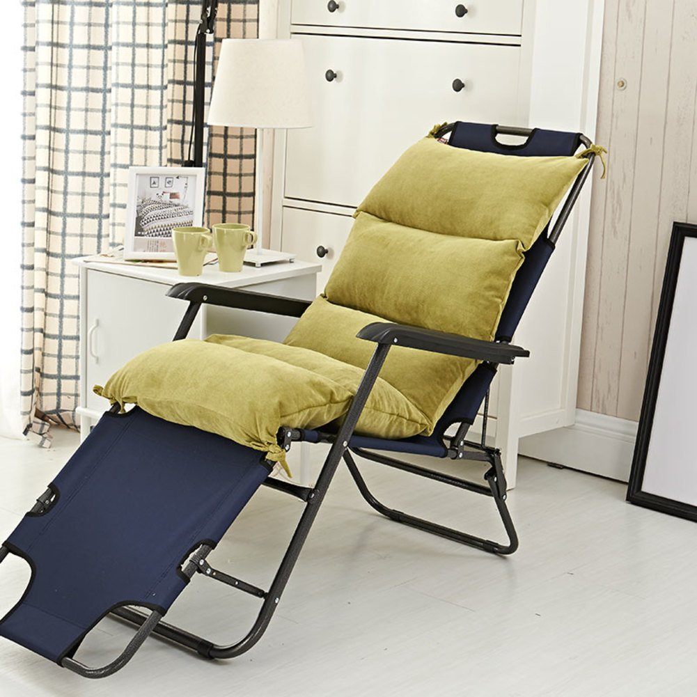 Copper Cuscino Imbottito per Sedia Pieghevole, Addensare Solido Cuscini per sedie a Dondolo Peluche Lavabile Poltrona Cuscino Cuscino reclinabile -verde 20x47inch