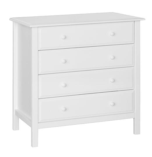 Davinci Jayden 4-Drawer Dresser, White
