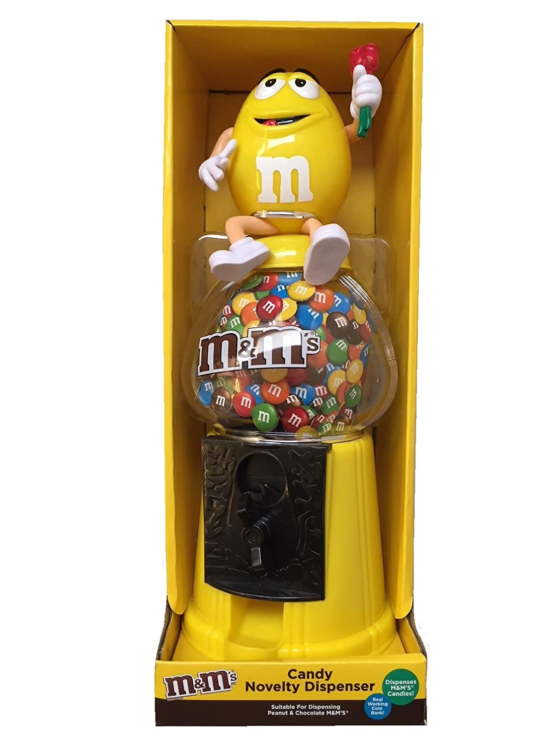 M & M s Dispensador De Chocolate Candy máquina & dinero Banco Grande 12