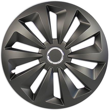 4x premium Design tapacubos radzierblenden cegar set 13 pulgadas en negro mate