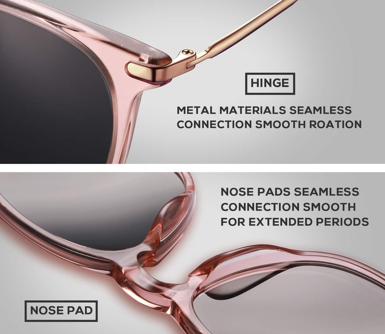 T.SEBAN Polarized Sunglasses for Women Men Vintage 100/% UV Protection Lens Acetate Frame