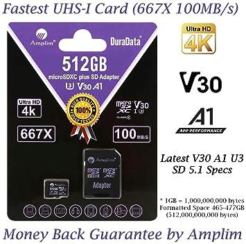 Amazon.com: Amplim - Tarjeta de memoria microSDXC de 64 GB y ...