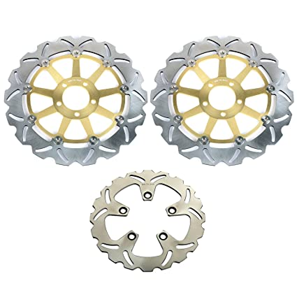 Amazoncom Tarazon Front And Rear Brake Disc Rotors For Kawasaki