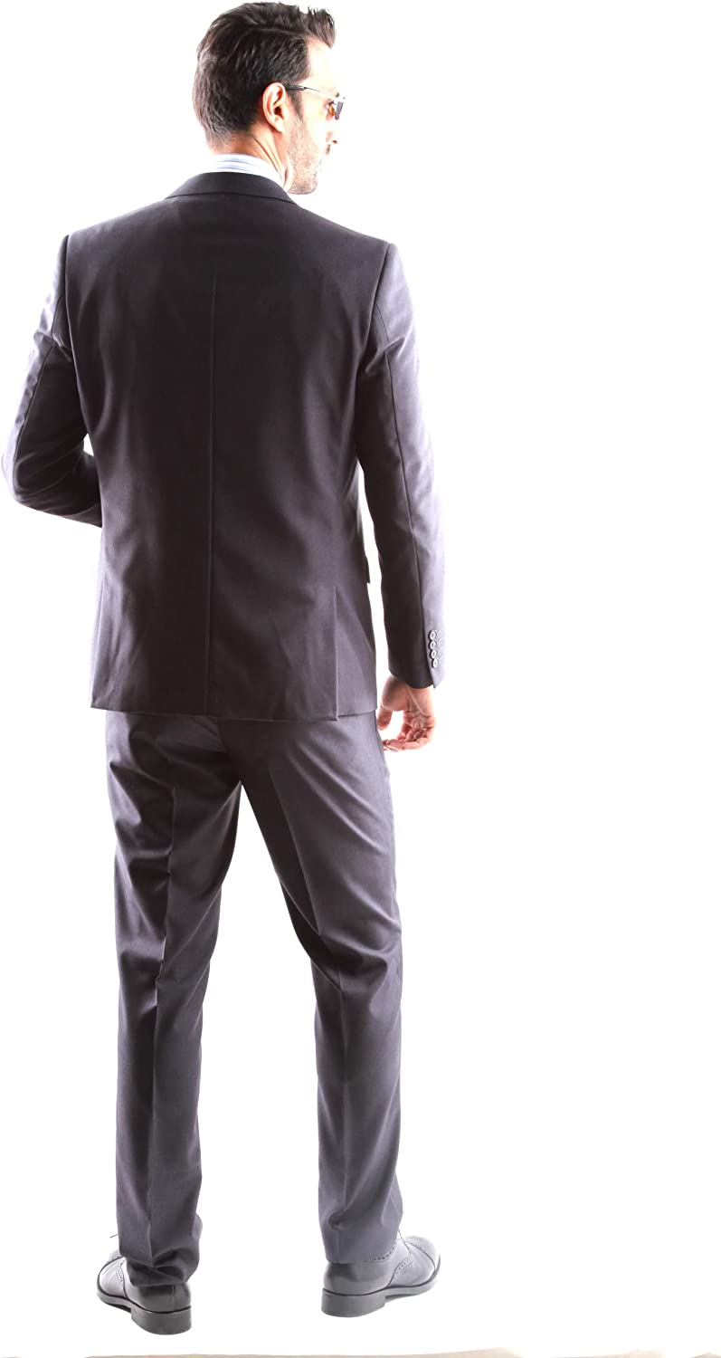 Mens Single Breasted 2 Butto 3 pcs Vested Slim Fit Dress Suit