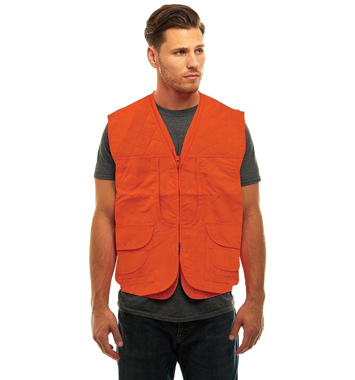 TrailCrest Mens Blaze Orange Safety Front Loader Vest