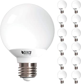 Sunco G25 LED Globe LED Bulb for Vanities