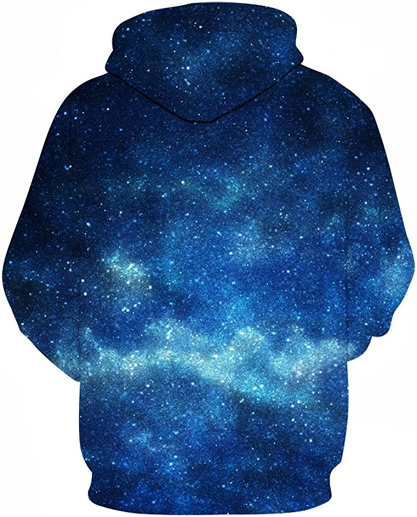 eljuyw Hoodies Men Women 3D Space Hooded Sweatshirts Male Tracksuits Pullover