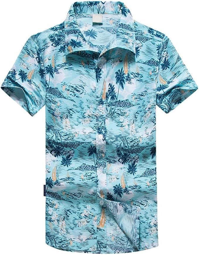 SUDADY Camisas para Hombre, Camisa Hawaiana Hombre, Moda Juvenil ...