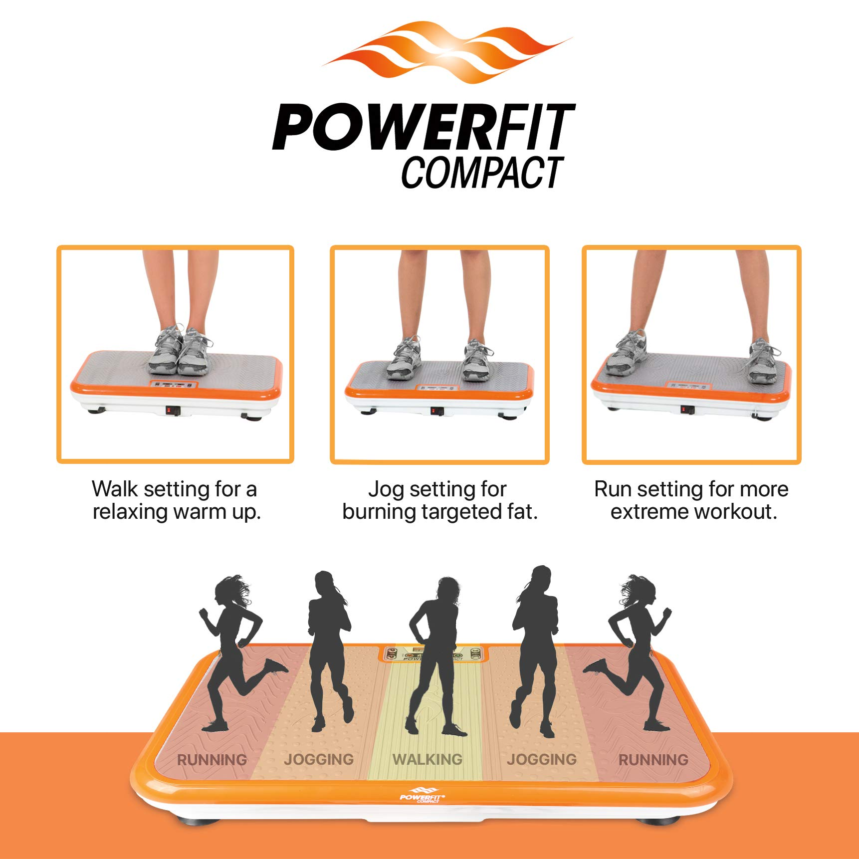 Power Fit Whole Body Vibration Exercise Platform - Home Workout Vibrating Step Equipment by Power Fit (Image #2)