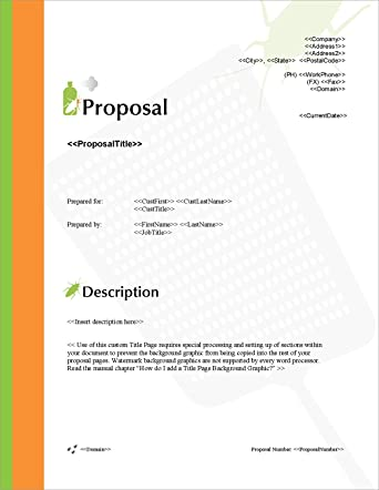 Amazon Proposal Pack Pest Control 1 Business Proposals