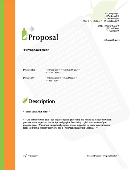 Amazon proposal pack pest control 1 business proposals proposal pack pest control 1 business proposals plans templates samples and friedricerecipe Gallery