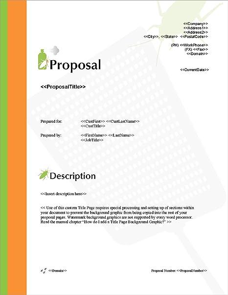 Amazon Com Proposal Pack Pest Control 1 Business