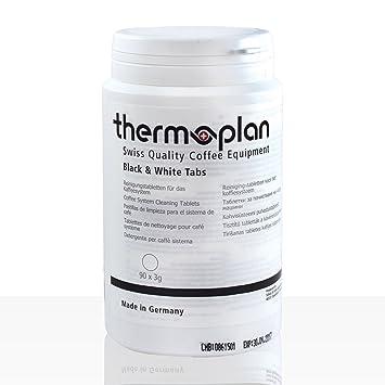Pastillas de limpieza Thermoplan blanco y negro máquinas de café | Caja de 90 | Blanco