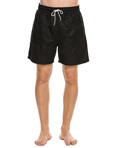 Lucyme Herren Badehose Badeshorts für Männer Block Swim Shorts Schnell Trocknend Kurz Schnelltrocknend Beachshorts mit Tunnelzug Boardshorts