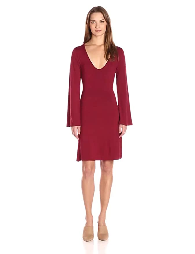 c33fa849be Loveappella Women s Bell Sleeve Belted Dress