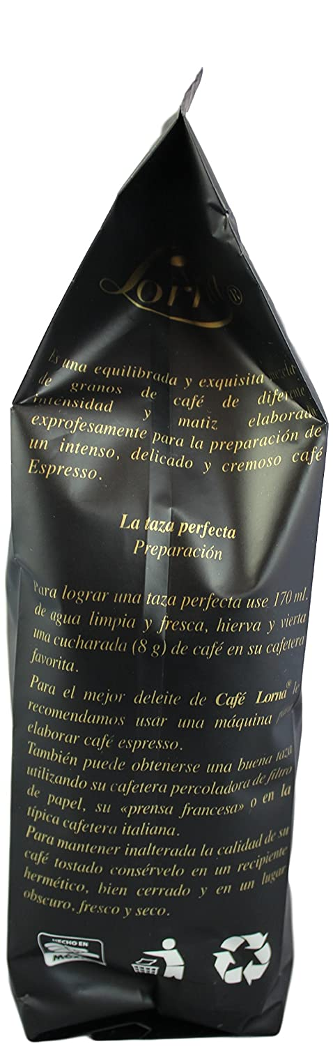 Amazon.com : Lorna Café Espresso Mexican Chiapas Organic Premium Gourmet Coffee, 18 oz. (Espresso Roast / Whole Bean, 18 oz) : Grocery & Gourmet Food