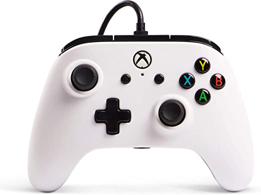 PowerA Mando con Cable con licencia oficial para Xbox One, Xbox One S, Xbox One X y Windows 10 - Blanco: Amazon.es: Videojuegos