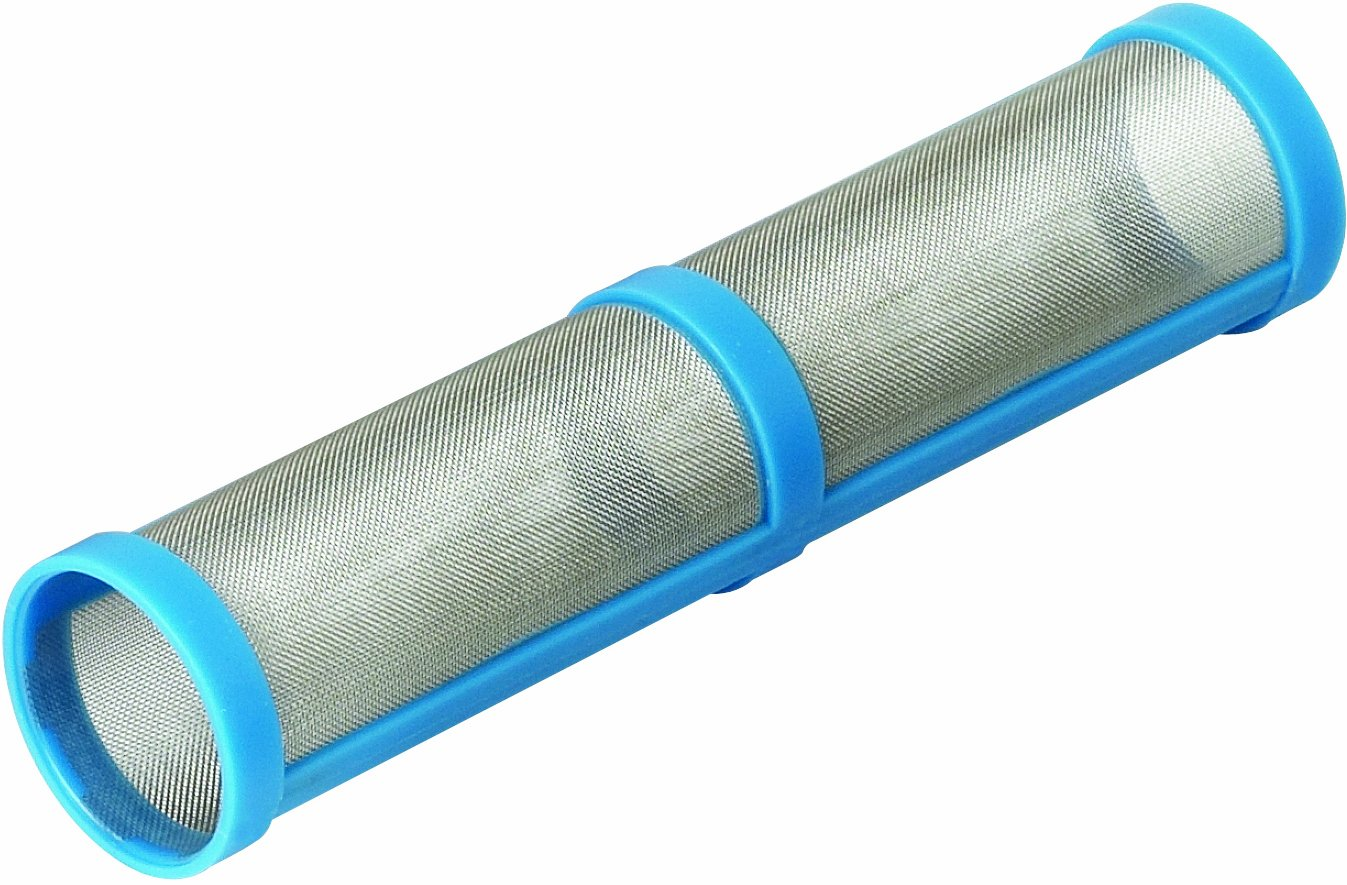Graco Inc. Graco 243081 100 Mesh Easy Out Short Manifold Horizontal Filter for Airless Paint Spray Guns, Blue