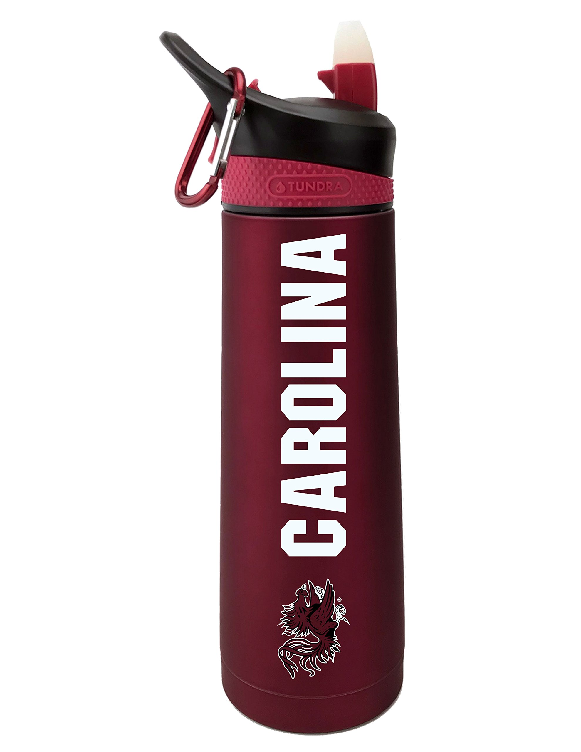 The Fanatic Group South Carolina University Dual Walled Stainless Steel Sports Bottle, Design 1 - Burgundy