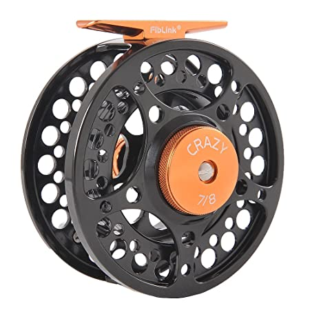 Fiblink Fly Fishing Reel with Large Arbor 2 1 BB, CNC Machined Aluminum Alloy Body and Spool 7 8 wt