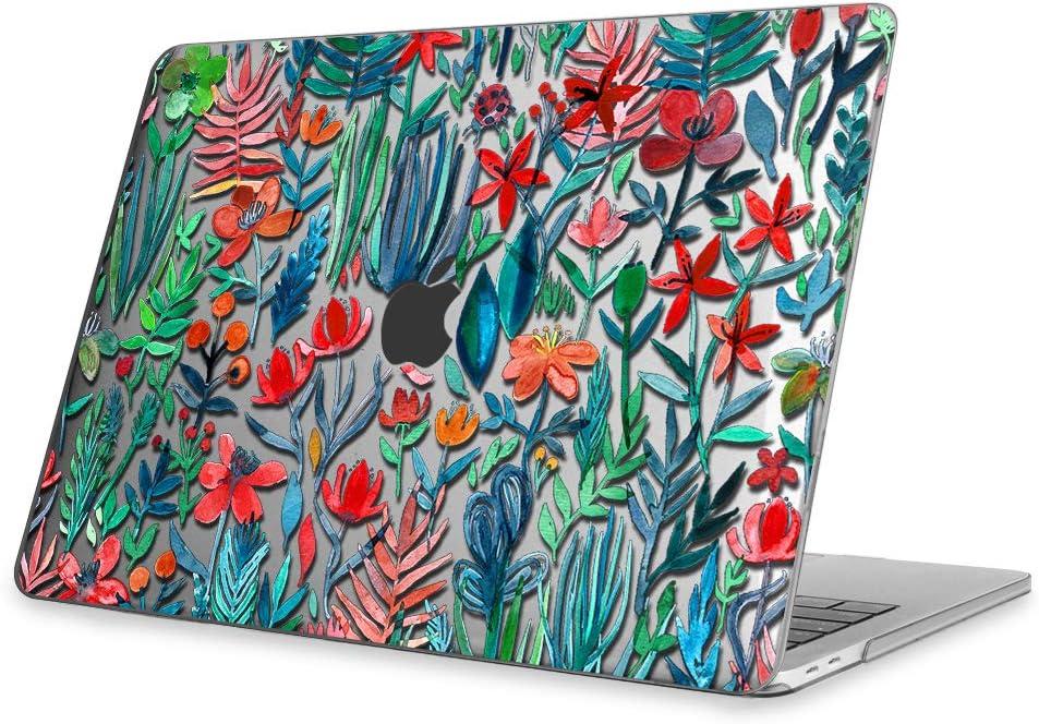 Fintie Funda para MacBook Pro 13 (2019/2018/2017/2016) - Súper Delgada Carcasa Protectora de Plástico Duro para Modelo A1989/A1706/A1708/A2159, Jungla(Transparente)