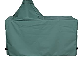 "product image for Cowley Canyon Brand Large Ceramic Egg Type Kamado Table Cover, 60""L-27""W-31""H. Fits Large Big Green Egg, Kamado Joe Classic and Others."