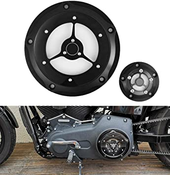 Skull Black Motorcycle Derby Timer Timing Engine Cover CNC Black for Harley 1999-2014 Twin Cam Touring Road King Electra Glide FLHR FLHX FXST Dyna